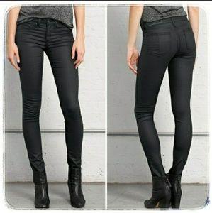 Rag & Bone Skinny Legging Coated Jeans Shoreditch